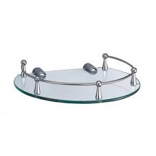 WasserKraft K-566 Полка стеклянная, хром/стекло