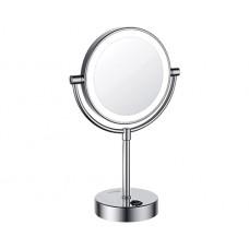 WasserKraft K-1005 Зеркало с LED-подсветкой двухстороннее, стандартное и с 3-х кратным увеличением, хром