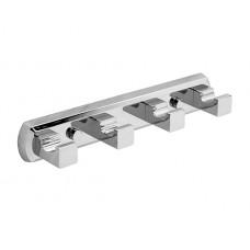 WasserKraft Lippe K-6574 Планка на четыре крючка, хром
