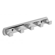 WasserKraft Lippe K-6575 Планка на пять крючков, хром