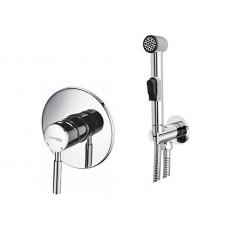 WasserKraft A04156 Смеситель скрытого монтажа с гигиеническим душем, хром