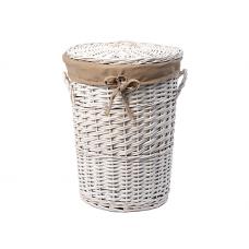 WasserKraft Aller WB-106-L Плетеная корзина для белья с крышкой, белый