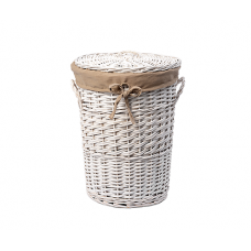 WasserKraft Aller WB-106-M Плетеная корзина для белья с крышкой, белый
