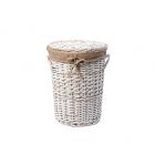WasserKraft Aller WB-106-S Плетеная корзина для белья с крышкой, белый