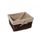 WasserKraft Berkel WB-480-L Плетеная корзина для белья, темно-коричневый