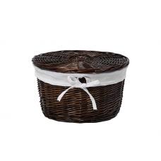 WasserKraft Donau WB-530-L Плетеная корзина для белья с крышкой, темно-коричневый