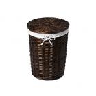 WasserKraft Еlbe WB-740-L Плетеная корзина для белья с крышкой,темно-коричневый