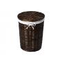 WasserKraft Еlbe WB-740-M Плетеная корзина для белья с крышкой, темно-коричневый