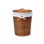 WasserKraft Leine WB-350-M Плетеная корзина для белья с крышкой, светло-коричневый