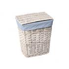 WasserKraft Lippe WB-450-L Плетеная корзина для белья с крышкой, белый