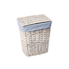 WasserKraft Lippe WB-450-M Плетеная корзина для белья с крышкой, белый
