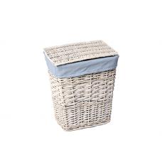 WasserKraft Lippe WB-450-S Плетеная корзина для белья с крышкой, белый
