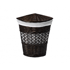 WasserKraft Salm WB-270-M Плетеная корзина для белья с крышкой, темно-коричневый
