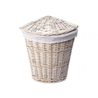 WasserKraft Vils WB-560-L Плетеная корзина для белья с крышкой, белый