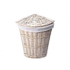 WasserKraft Vils WB-560-M Плетеная корзина для белья с крышкой, белый