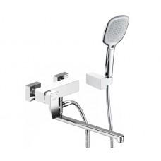 WasserKraft Aller 1062LWHITE Смеситель для ванны, белый/хром